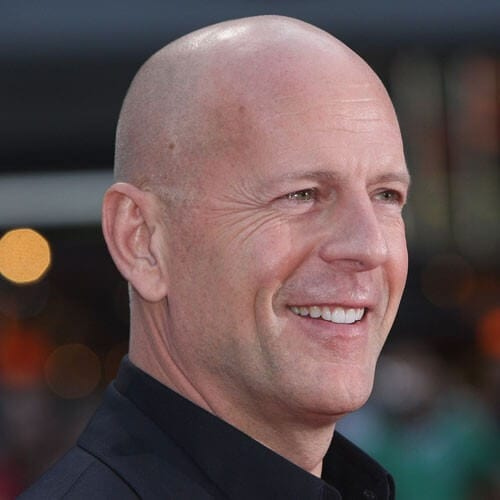 Bruce Willis Clean Shave All Around