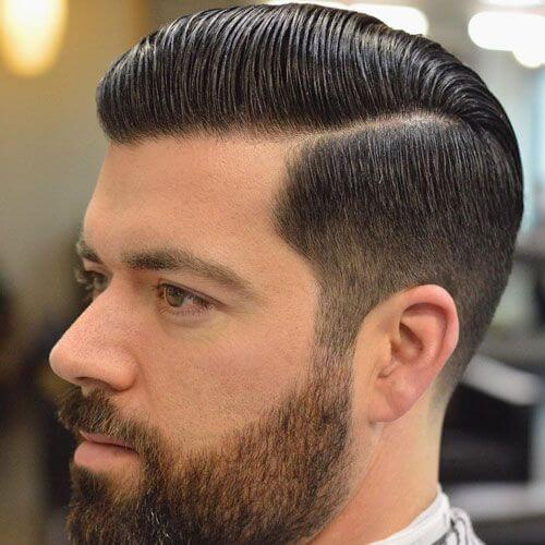 Comb Over Hard Part Haircut