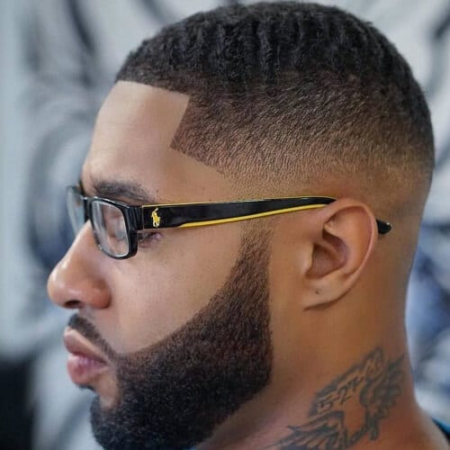 Delightful Short Taper Fade Black Male Hairstyle