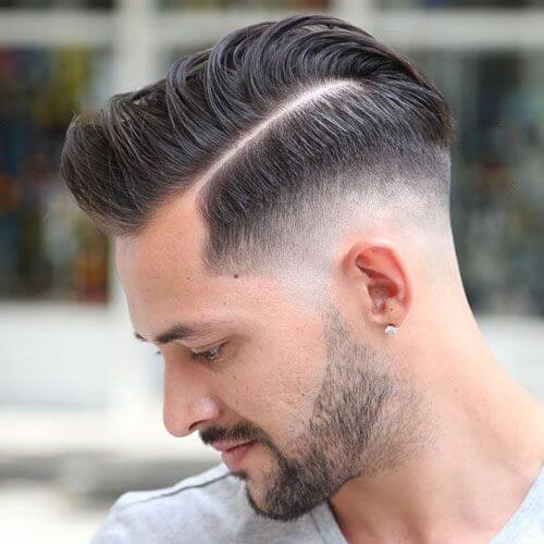 Taper Fade Hard Part Haircut