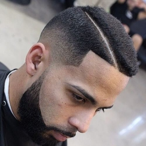 Temple Fade Hard Part Haircut