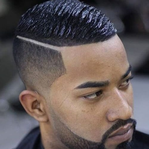 Wave Cut with Bald Fade