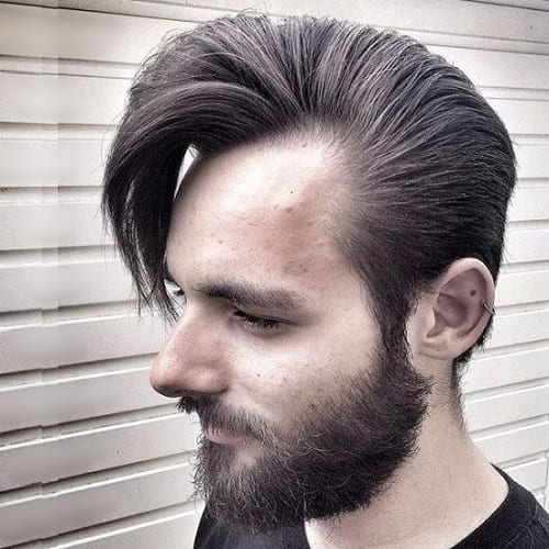 dynamic hairstyle with receding hairline