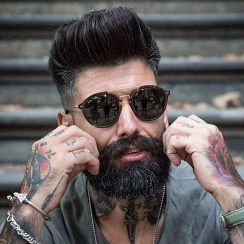 Beard And Pompadour