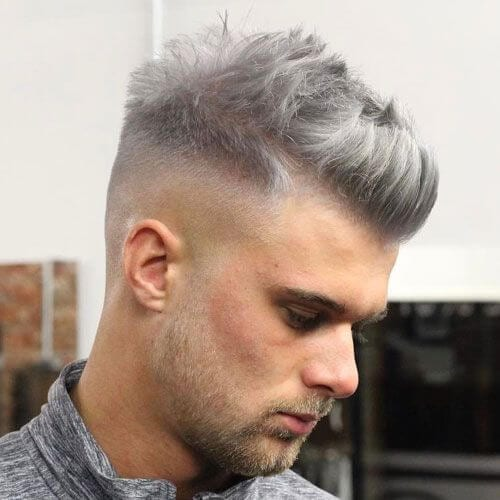 Colored Quiff Haircut
