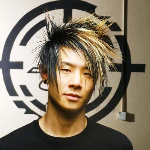 Emo Hairstyles for Guys with Asymmetrical Bangs