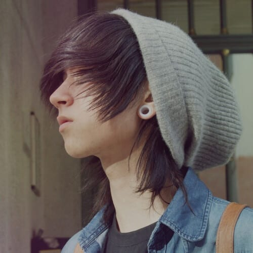 Emo Hairstyles for Guys with Beanies