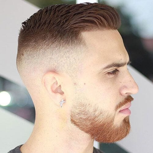 Ivy League Haircut with High Fade