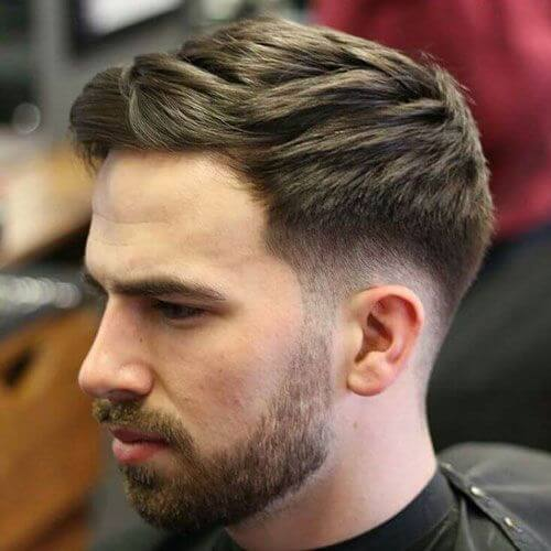 Ivy League Haircut with Low Fade