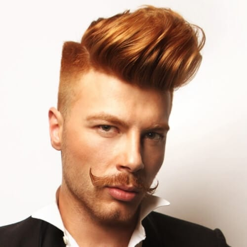 Long Asymmetrical Quiff with Sculpted Fade
