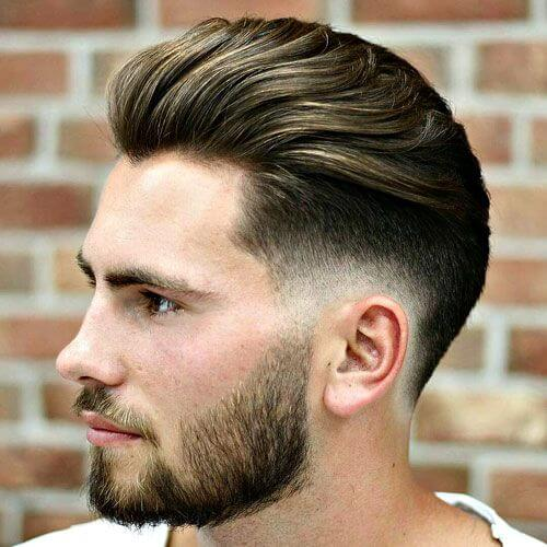 Low Pompadour Haircut Fade