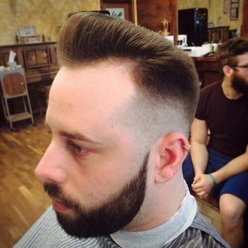 Pompadour Haircut for Men with Receding Hairlines