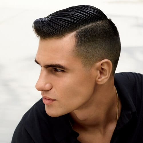 Pompadour Haircut with Comb Over