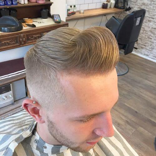 Pompadour Haircut with Wave Styling