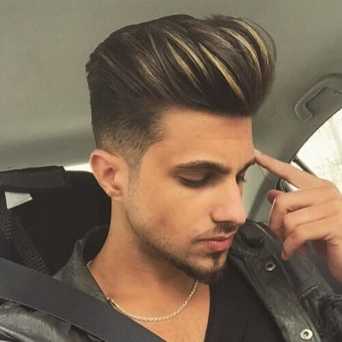 Pompadour with Highlights