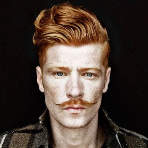 Quiff Haircut with Moustache