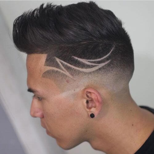 Quiff Haircut with Undercut Design