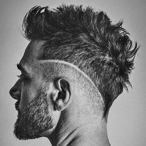 Quiff with V-shaped Undercut