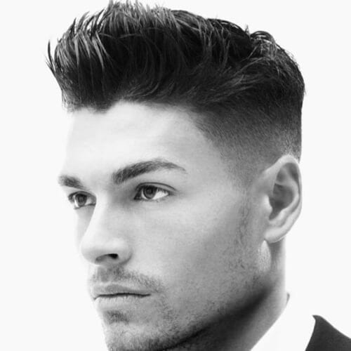 Short Haircuts for Men with Shaved Sides