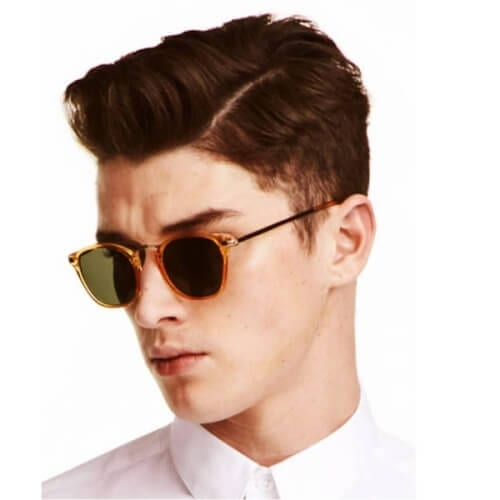 Short Quiff Side Swept with Fade