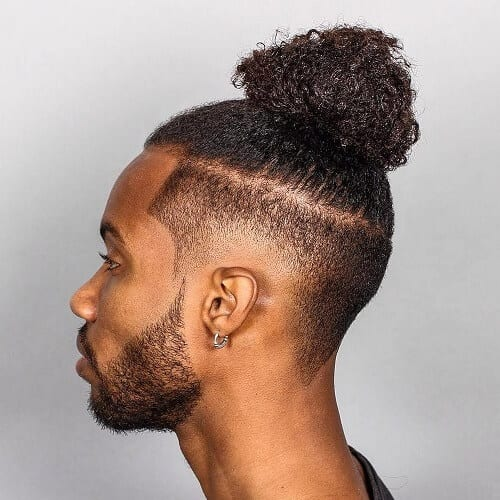 Afro-textured Man Bun
