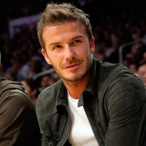 Angular Fringe David Beckham Hairstyles