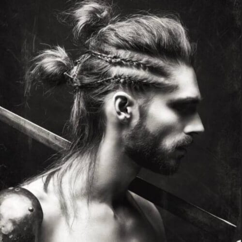 Bold Man Bun Hairstyle