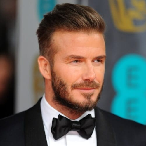 Brushed Back David Beckham Hairstyles