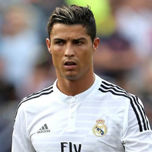Cristiano Ronaldo Hairstyles with Highlights