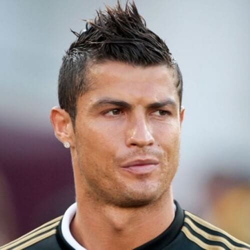 Cristiano Ronaldo Hairstyles with Mixed Spikes