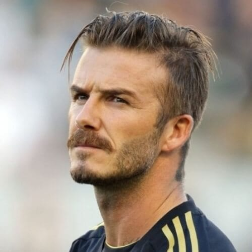 David Beckham Hairstyles with Moustaches