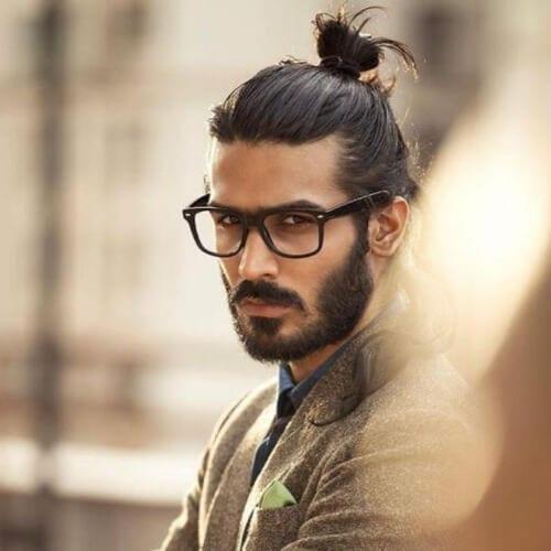 Hipster Man Bun Hairstyle