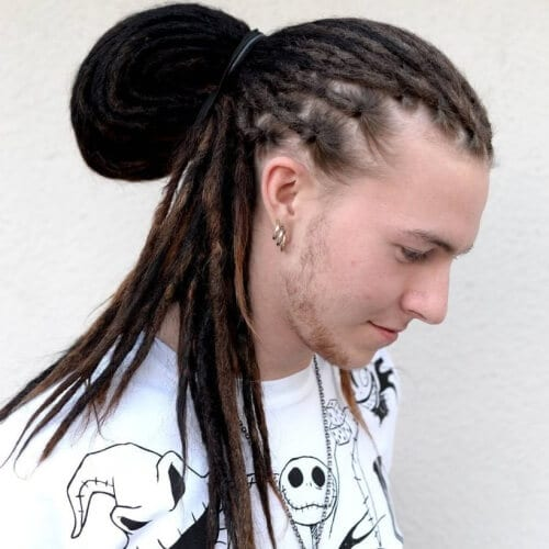 Large Man Bun Hairstyle