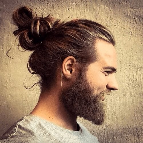 Loose Man Bun Hairstyle