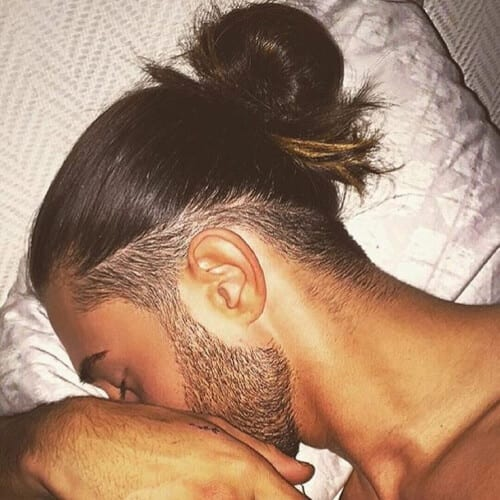 Low Fade Man Bun Hairstyle