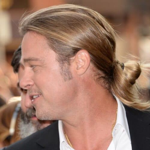 Man Bun Brad Pitt Hairstyles