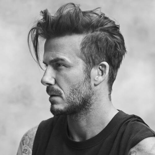 Messy David Beckham Hairstyles