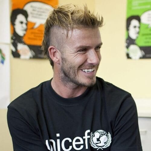 Mohawk David Beckham Hairstyles