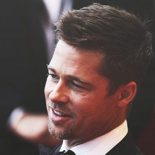 Short Angular Fringe Brad Pitt Hairstyles