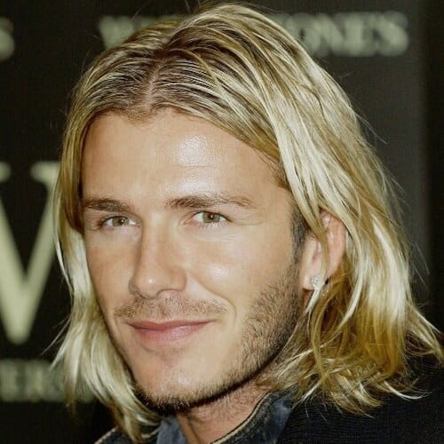 Shoulder-length David Beckham Hairstyles