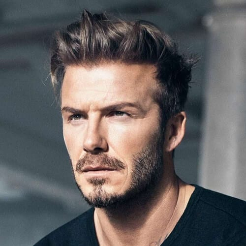 Side-tossed David Beckham Hairstyles