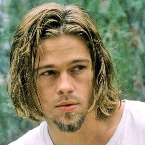 surfer style hair 50 diverse brad pitt hairstyles hairstyles world 6354 | Surfer Hairstyles
