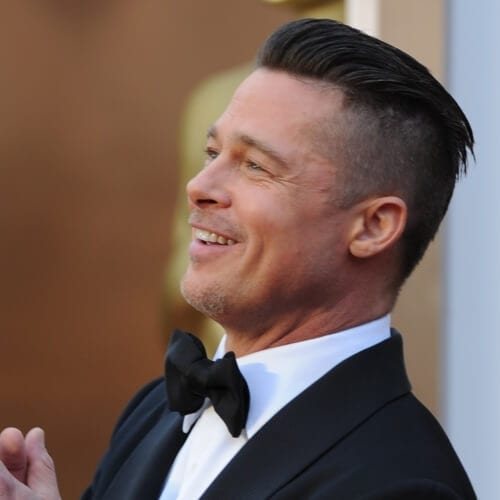 Swept Back Brad Pitt Hairstyles
