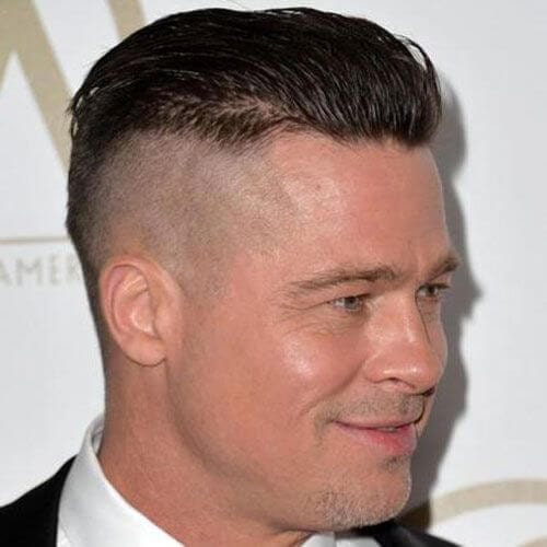 Undercut Brad Pitt Hairstyles