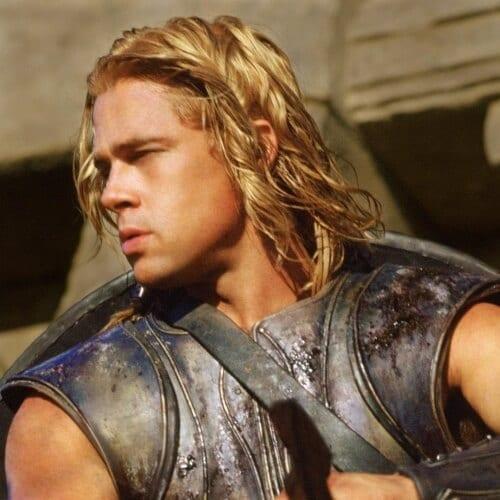 Wavy Brad Pitt Hairstyles
