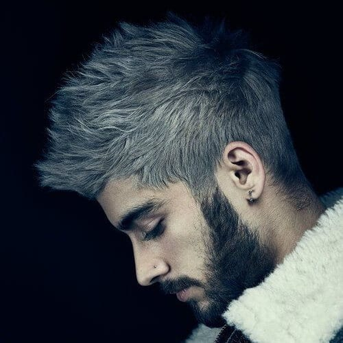 Ash Blonde Zayn Malik Haircut