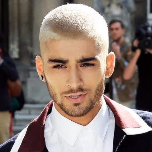 Zayn with Bleached Buzz Cut