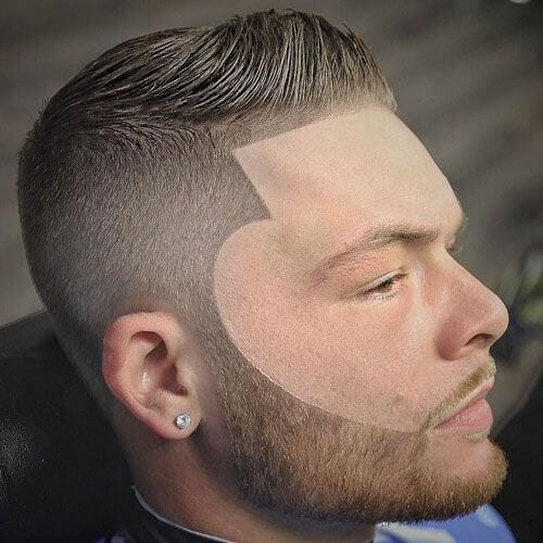 Box Fade with Beard Design