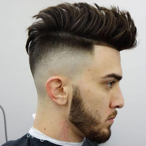 Faux Hawk Temp Fade Haircut