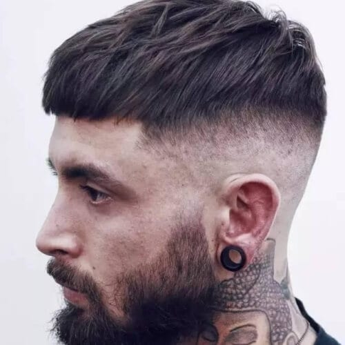 French Crop Temp Fade Haircut